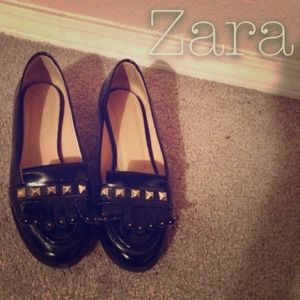 Zara Shoes - Zara S/S 13 Studded Loafers.