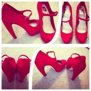 Dolce Vita Shoes - Red Dolce Vita Mary Jane Pumps.