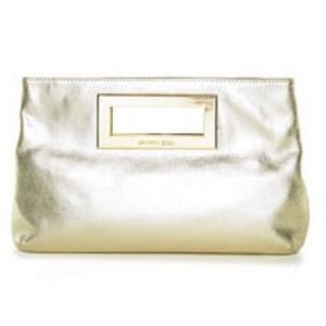 REDUCED   Authentic MICHAEL KORS GOLD CLUTCH