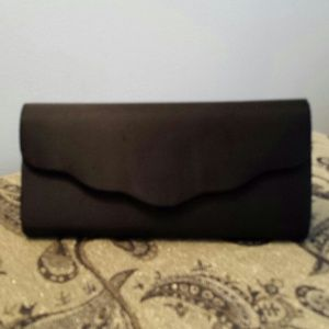 Black fabric clutch