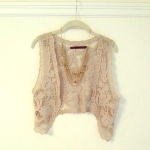 Zara knit lace vest