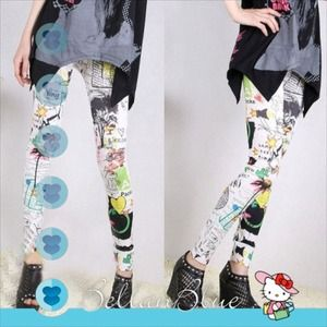 Pants - 🎉HPx4🎉- The FUN with GRAFFITI leggings