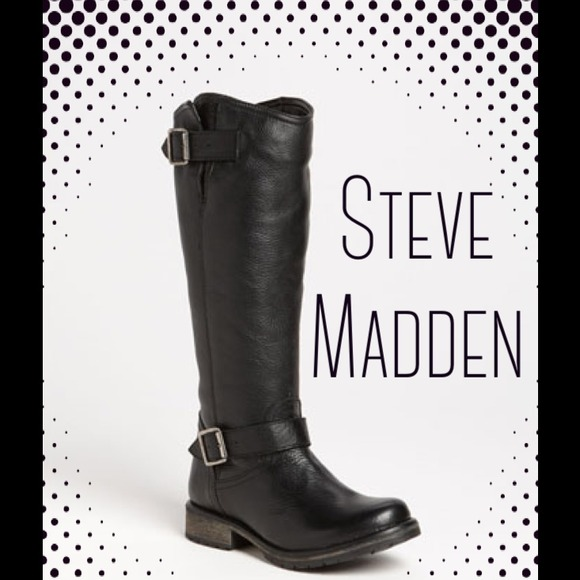 7a10ef3f8a4 HoldSteve Madden Black Fairmont Riding Boot