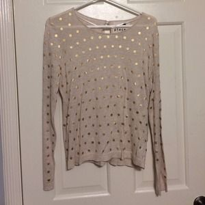 Gold polka dotted sweater