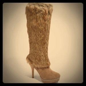 Fergie Captive Faux Fur Boot