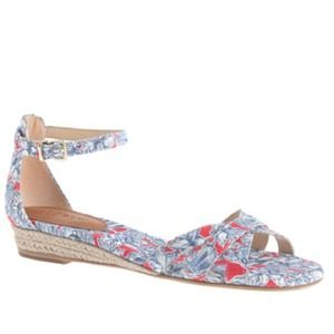 J.crew Marina mini wedge espadrille -liberty print