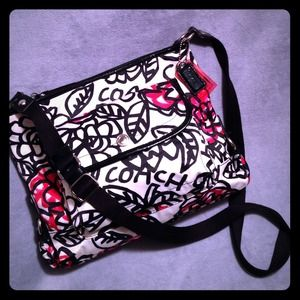 Coach Floral Graffiti Crossbody F16864
