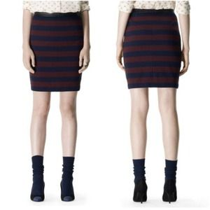 "Striped ""Isabel"" Knit Pencil Skirt"