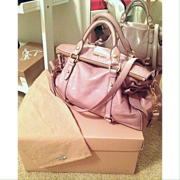 5f0b4424544 miu miu bow bag. M 52f5fd1fdd7b7f7f46013d73. Other Bags you may like. Miu  Miu Vitello Lux ...