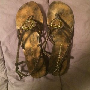 Beaded Chinese Laundry Flat Sandals