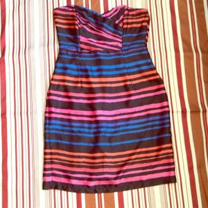 Gorgeous H&M striped strapless dress
