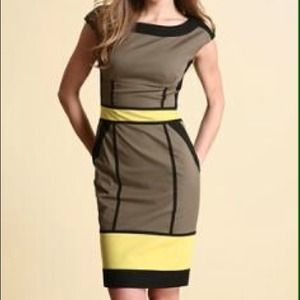 Karen Millen color blocks dress.