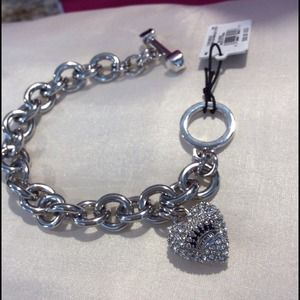 Juicy Couture Jewelry - SOLD JUICY COUTURE Crystal Heart Toggle Bracelet
