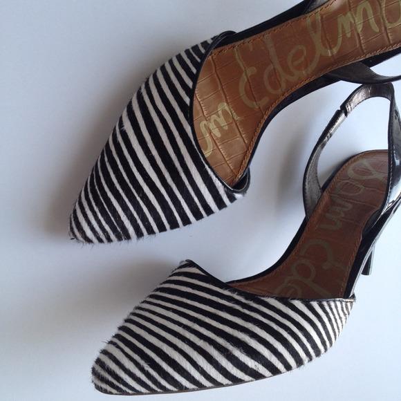 Sam Edelman Shoes - Sam Edelman Striped Slingback.