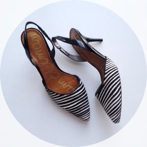 Sam Edelman Shoes - Sam Edelman Striped Slingback. 1
