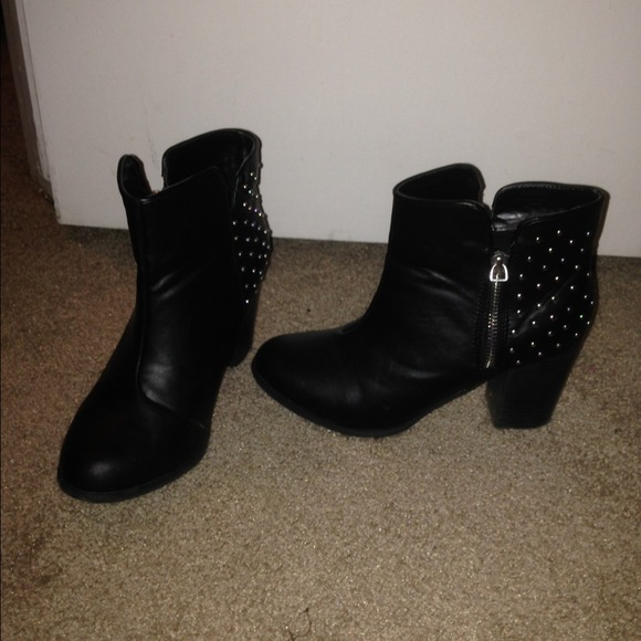 Forever 21 Shoes - Black Forever XXI Studded Booties.