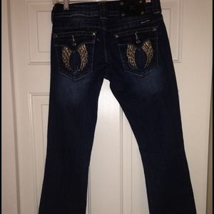 Miss Me wing jeans boot cut