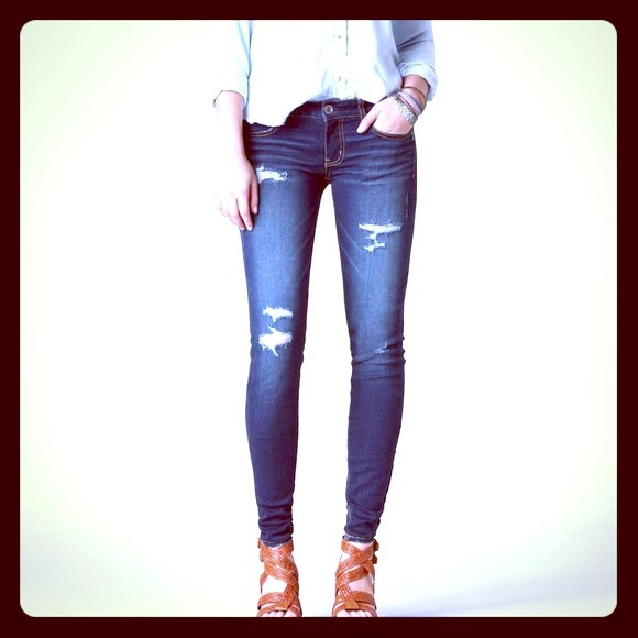 68% off American Eagle Outfitters Pants - American Eagle Ripped ...