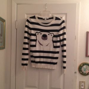 Adorable polar bear striped sweater