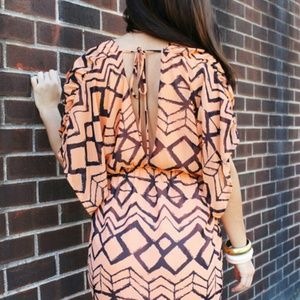 Dresses & Skirts - *HOST PICK* Printed open-back Chiffon Mini Dress