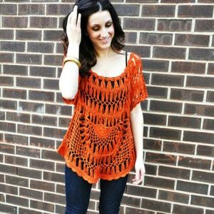 Tops - *HOST PICK* boho Open Knit Top