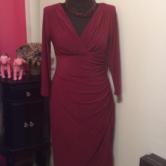 Ralph Lauren Dresses   Sale Wine Colored Knit Dress   Poshmark