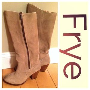 Frye Boots - Frye Angela Tan Boots- beautiful!!