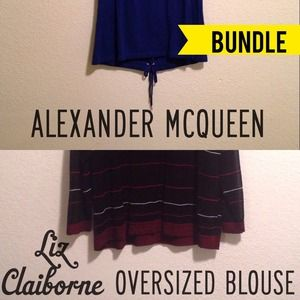 Alexander McQueen Tops - Alexander McQueen Lace Back Top