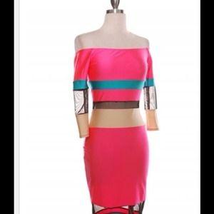 Beautiful Off the Shoulder Pink Dress