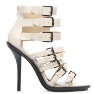 Paper Fox Shoes - STRAPPY BUCKLE HEELS
