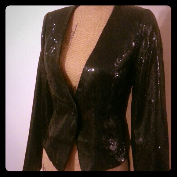 Black Sequin Jacket Forever 21 Forever 21 Jackets Blazers