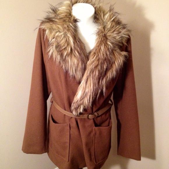 Fabulous Odyn Faux Fur Jacket Size Large