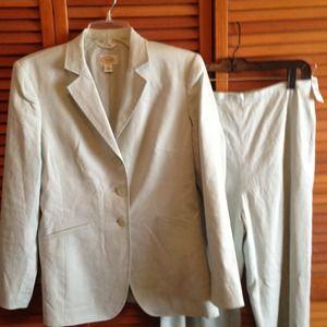 Talbots linen Suit