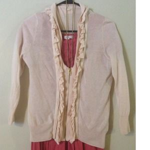 J. Crew Sweaters - 🌸Cute J.Crew light pink zipper sweater