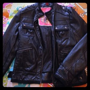 Collection B Jackets & Blazers - Black Faux Leather Jacket