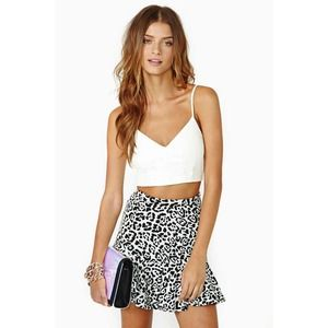 Nasty Gal Babette Faux Leather Crop Tank