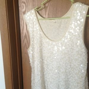 Gorgeous J crew sequined tank.