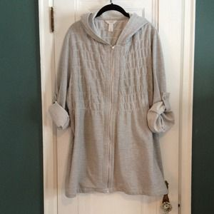 Gray zipper sweatshirt jacket