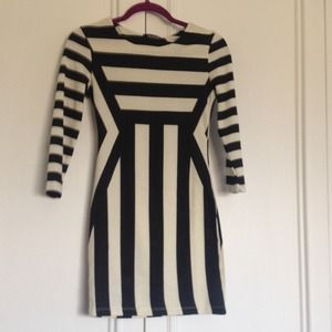 Romwe perfect black and white mini bodycon. NWOT.