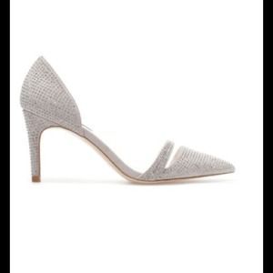 Zara 2014 Grey Sparkly High Heel Shoe size 9