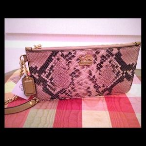 Coach Madison Embossed Python Chain Wrislet