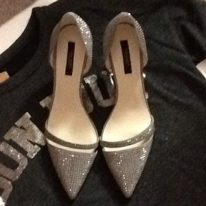 Zara 2014 Grey Sparkly High heel Shoe size 8