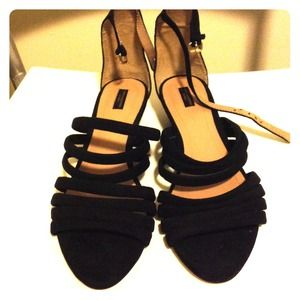 Zara Collection by Basic suede sandals.