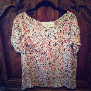 Rory Beca splatter silk top