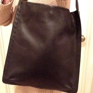 Vintage Coach Bag All Leather Auth