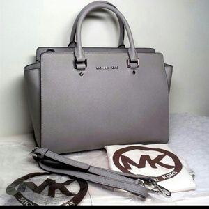 532106de37c1 Michael Kors Bags -  RESERVED  Michael Kors MK Large Selma Pearl Gray