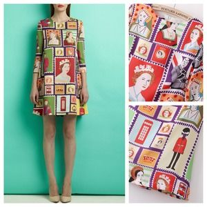 Dresses & Skirts - NEW British Royalty Postage Stamp Tunic Dress