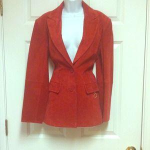 Suede vintage blazer