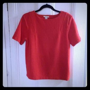 Textured Oversized poppy red top