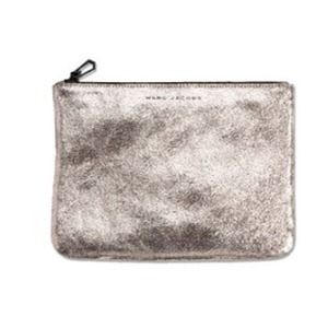 🎉HP Marc Jacobs leather clutch gunmetal